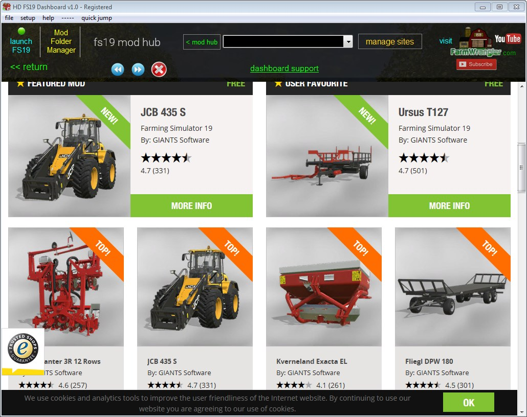 HD FS19 Dashboard - FarmWrangler - All things Farming Simulator